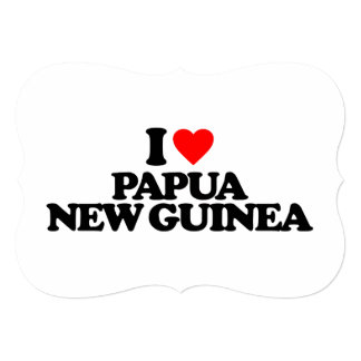 """AMO PAPÚA NUEVA GUINEA INVITACIÓN 5"""" X 7"""""""