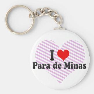 Amo Para de Minas el Brasil Llaveros Personalizados