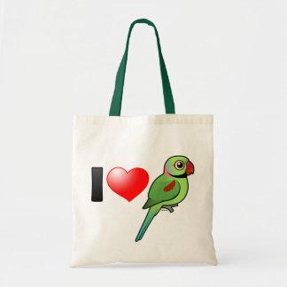 Amo Parakeets del Alexandrine Bolsa Tela Barata
