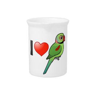 Amo Parakeets del Alexandrine Jarrones