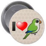 Amo Parakeets del monje Pin Redondo 10 Cm