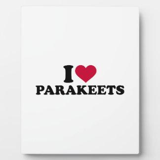 Amo parakeets placa
