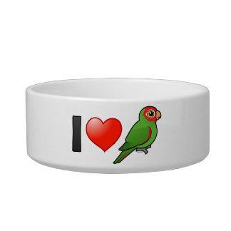 Amo Parakeets Rojo-enmascarados Comedero Para Mascota