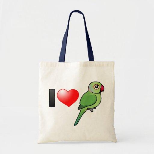 Amo Parakeets Rosa-anillados Bolsa Tela Barata