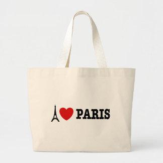 Amo París Bolsa Tela Grande