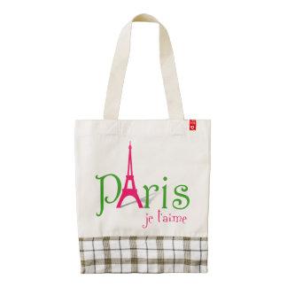 Amo París Bolsa Tote Zazzle HEART