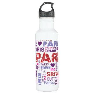 Amo París Botella De Agua