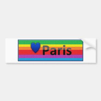 Amo París Pegatina De Parachoque