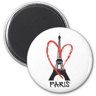 Amo París con la torre Eiffel Imán Redondo 5 Cm