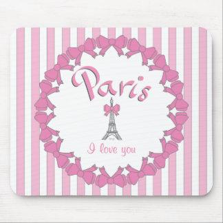Amo París con los corazones Tapetes De Ratones