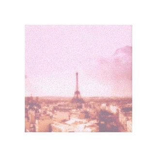 Amo París en la lona envuelta primavera Lienzo Envuelto Para Galerias