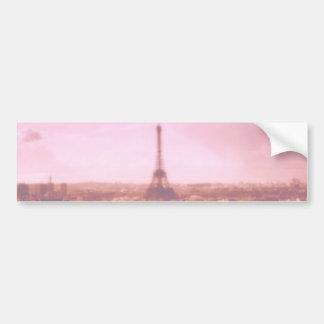 Amo París en la primavera Etiqueta De Parachoque