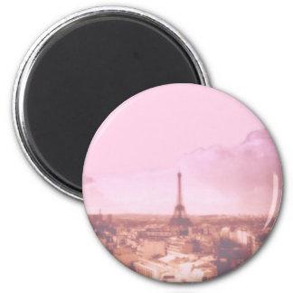 Amo París en la primavera Imán Redondo 5 Cm