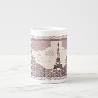 Amo París en la taza del jumbo del tiempo de Taza De Porcelana