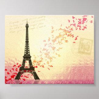 Amo París en primavera Póster