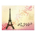 Amo París en primavera - tarjeta de RSVP Postales