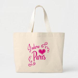 Amo París - estilo del vintage de J'adore París Bolsa Tela Grande