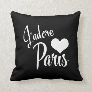 Amo París - estilo del vintage de J'adore París Cojín
