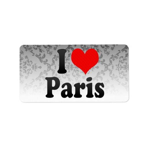 Amo París Etiquetas De Dirección