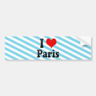 Amo París, Francia Pegatina De Parachoque