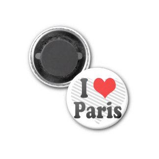 Amo París, Francia Imán Redondo 3 Cm