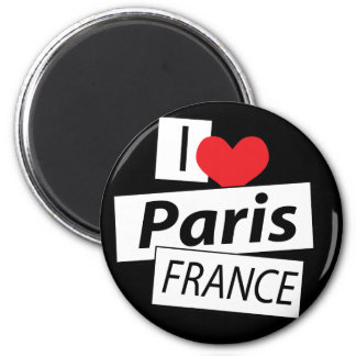 Amo París Francia Imán Redondo 5 Cm