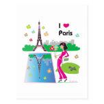 Amo París, Francia Postales