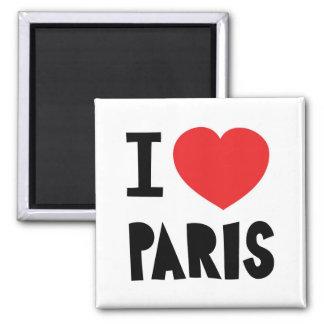 Amo París Imán Cuadrado