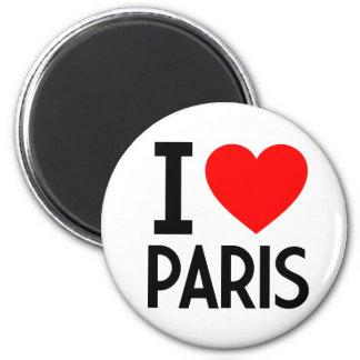 Amo París Imán Redondo 5 Cm