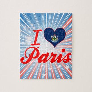 Amo París, Maine Rompecabezas Con Fotos