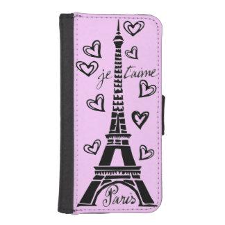 ¡Amo París, París Je Taime! Funda Tipo Billetera Para iPhone 5