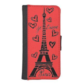 ¡Amo París, París Je Taime! Billetera Para iPhone 5