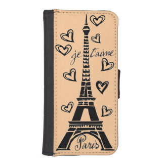 ¡Amo París, París Je Taime! Funda Billetera Para Teléfono