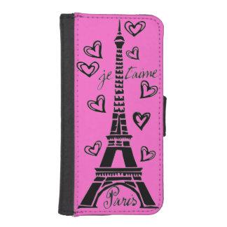 ¡Amo París, París Je Taime! Fundas Billetera Para Teléfono
