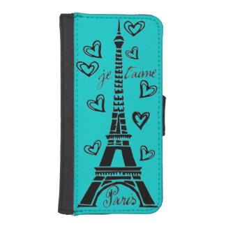 ¡Amo París, París Je Taime! Fundas Billetera De iPhone 5