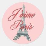 Amo París Pegatina