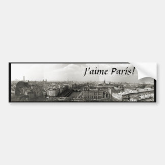"""Amo París!"" Pegatina para el parachoques Pegatina De Parachoque"