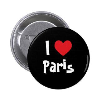 Amo París Pin Redondo De 2 Pulgadas