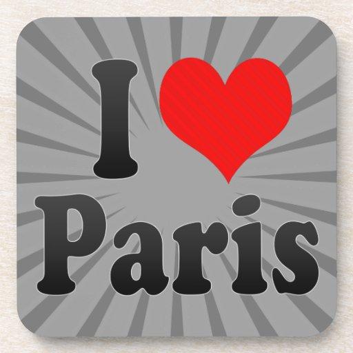 Amo París Posavasos De Bebidas