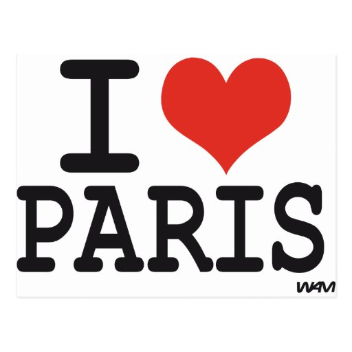 Amo París Postales