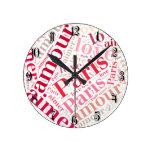 Amo París Reloj Redondo Mediano