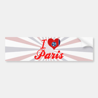 Amo París, Tennessee Pegatina De Parachoque