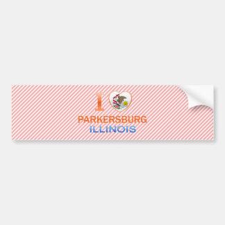 Amo Parkersburg, IL Etiqueta De Parachoque