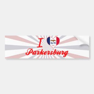 Amo Parkersburg, Iowa Pegatina De Parachoque