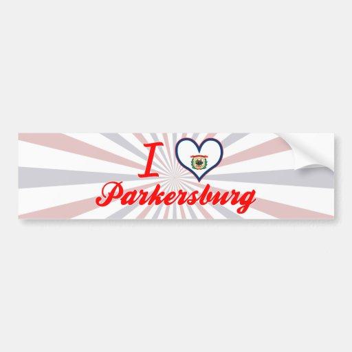 Amo Parkersburg, Virginia Occidental Etiqueta De Parachoque