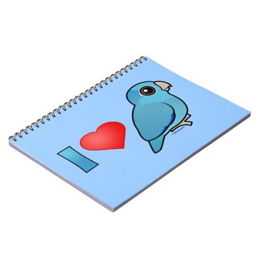 Amo Parrotlets pacífico (azul) Libros De Apuntes Con Espiral