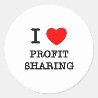 Amo participación en los beneficios pegatina redonda