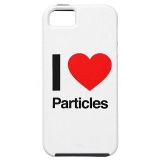 amo partículas iPhone 5 carcasas