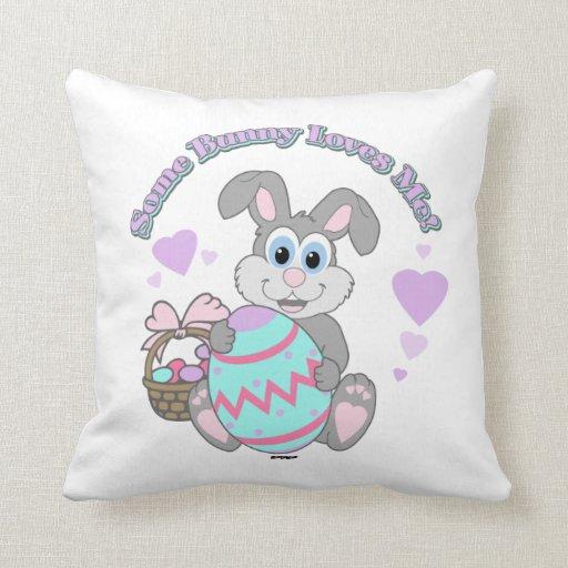 ¡Amo Pascua! Conejito de pascua Almohadas