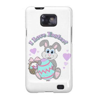 ¡Amo Pascua Conejito de pascua Galaxy S2 Fundas